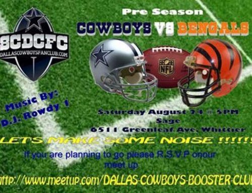 Cowboys Vs Bengals Preseason Party